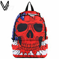 VN 2016 New School Backpack For Teenagers Girls Boys Bags Punk Backpack USA Flag Printing Skull Backpack Hip Hop Daily Backpacks