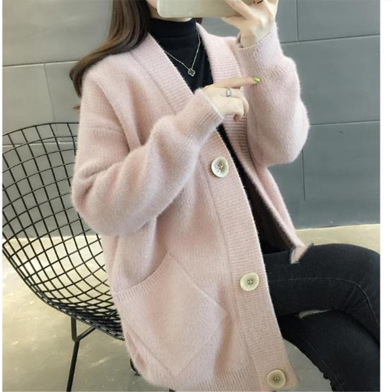 Sauvage En pink Amples Mode Nouvelles Tricot Hauts Pour Kelly Sac Cardigan Brown creamy De 2019 Hiver Blue Blouson Marée Manteau Femme Femmes A1172 white light Cd6xPSWn7