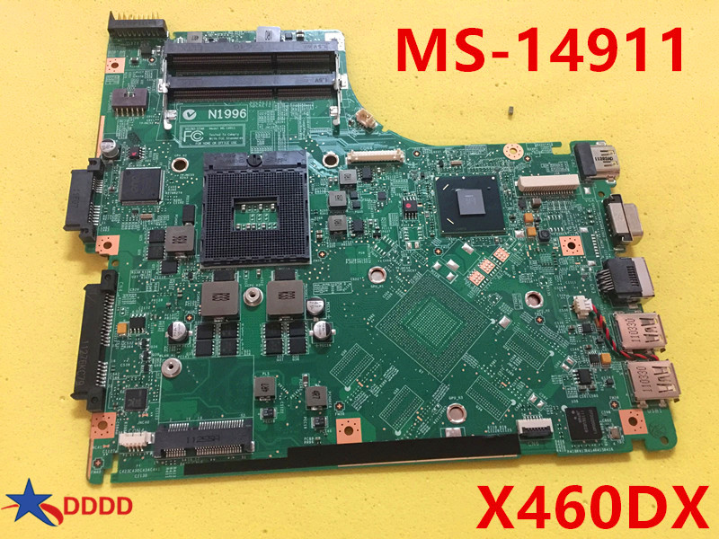 Original MS-1491 MS-14911 FOR MSI GE40 X460DX LAPTOP MOTHERBOARD fully tested AND working perfect кухонная мойка teka classic 1b 1d lux