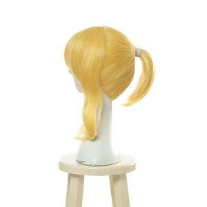 "Image 4 - L דוא""ל פאה חדש לגמרי אהבה חי אלי Ayase קוספליי פאות חום עמיד סינטטי שיער Perucas פאת קוספליי"