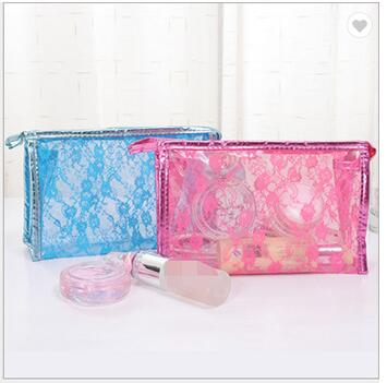 Custom Logo Portable Hanging Clear Bathroom Toiletry Wash Cosmetic Bags For Travel