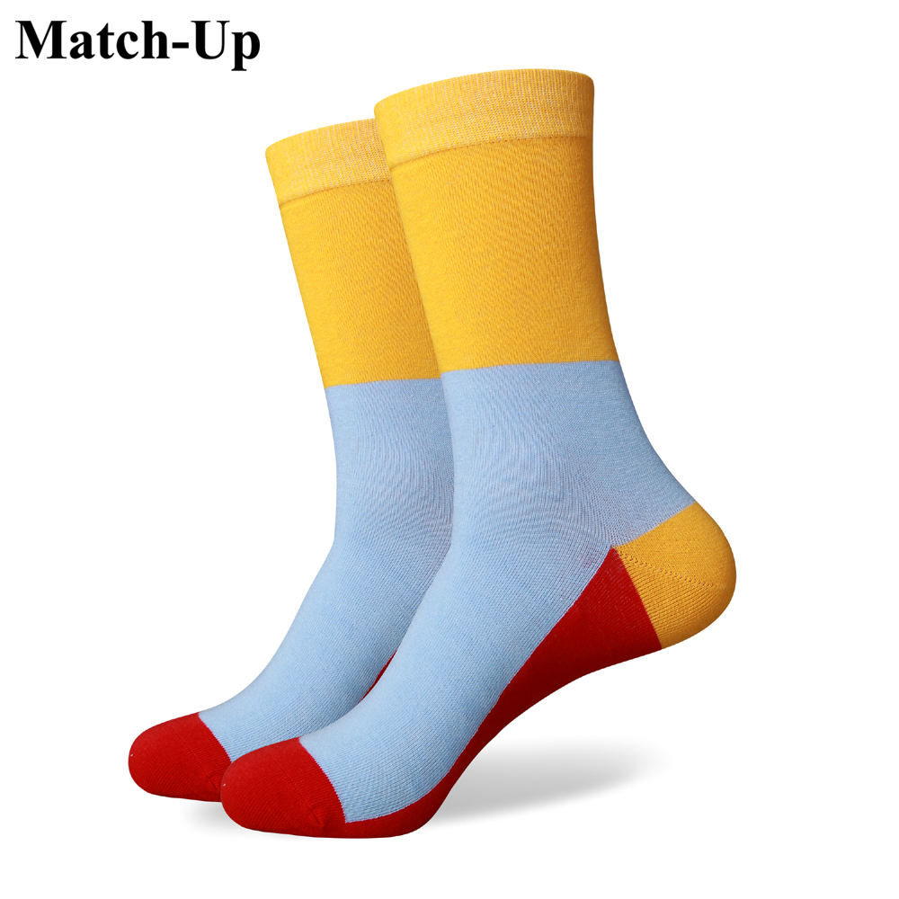 44fe90470323c ᗐMatch-Up hommes coloré coton peigné chaussettes 262 - Cooling Vens u86