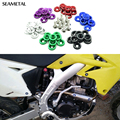 Car Styling 10PCS M6 x 20 Universal Modification JDM Password Fender Washer License Plate Bolts 3D Car-Styling Auto Accessories