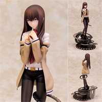 Anime Steins Gate Makise Kurisu 1/7 Scale Painted PVC Action Figure Collection Model Toys Doll 26cm