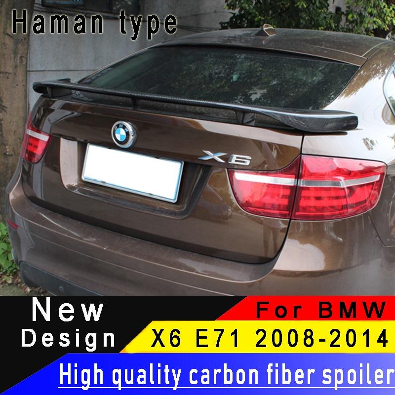For BMW X6 E71 2014 2015 2008 2009 2010 2011 2012 2013 2014 Carbon Fiber Rear