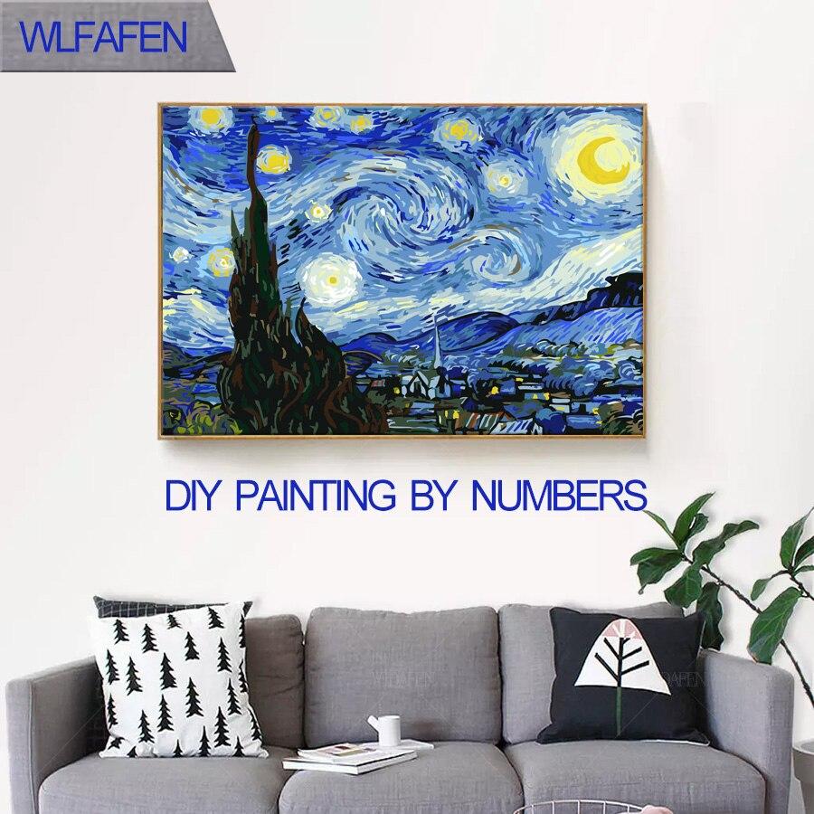 La famosa abstracta pintura al óleo de Van Gogh para colorear por ...