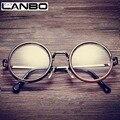 Hot Mulheres Homens Big Rodada Armações de Óculos Mais Recente Puramente Feitos À Mão Do Vintage vidros do Olho Óptico Quadro de Vidro Liso Moda Oculos811