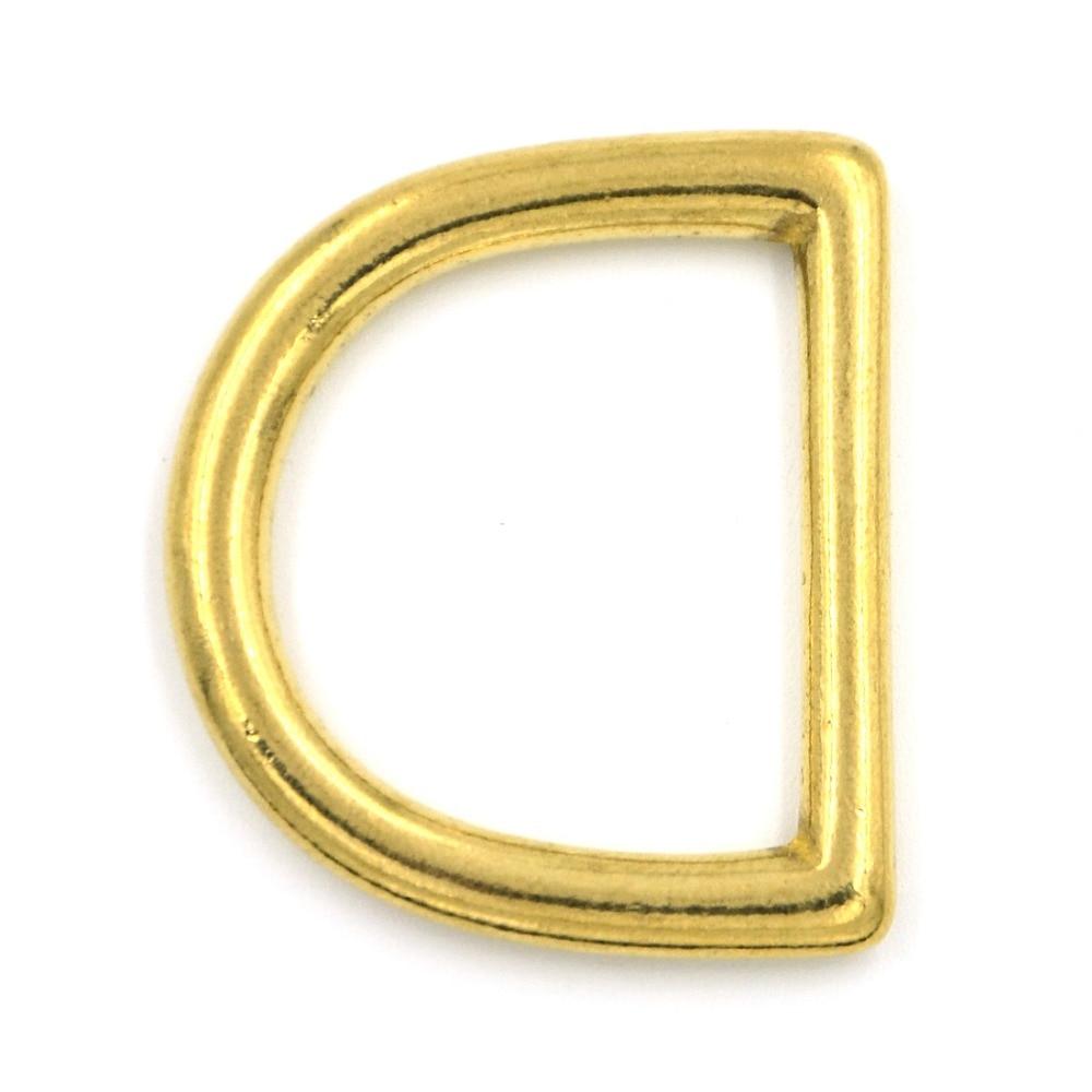 2dbfc3e6f906 2pcs 45mm Metal D Rings Buckle Seamless Brass Hook Loop Strap Webbing  Shackle Backpack