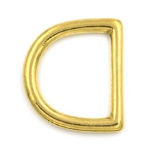 2pcs 45mm Metal D Rings Buckle Seamless Brass Hook Loop Strap Webbing Shackle Backpack
