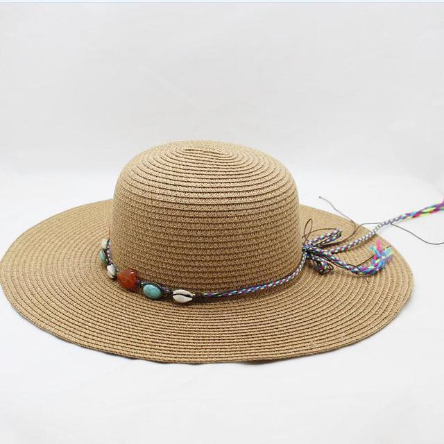 83e89f430c4dbc Brand Wide Brim Floppy Straw Sun Hat Beach Women Hat Wide Big Brim Summer  UV Protect Travel Cap Ladies Casual Cap Female