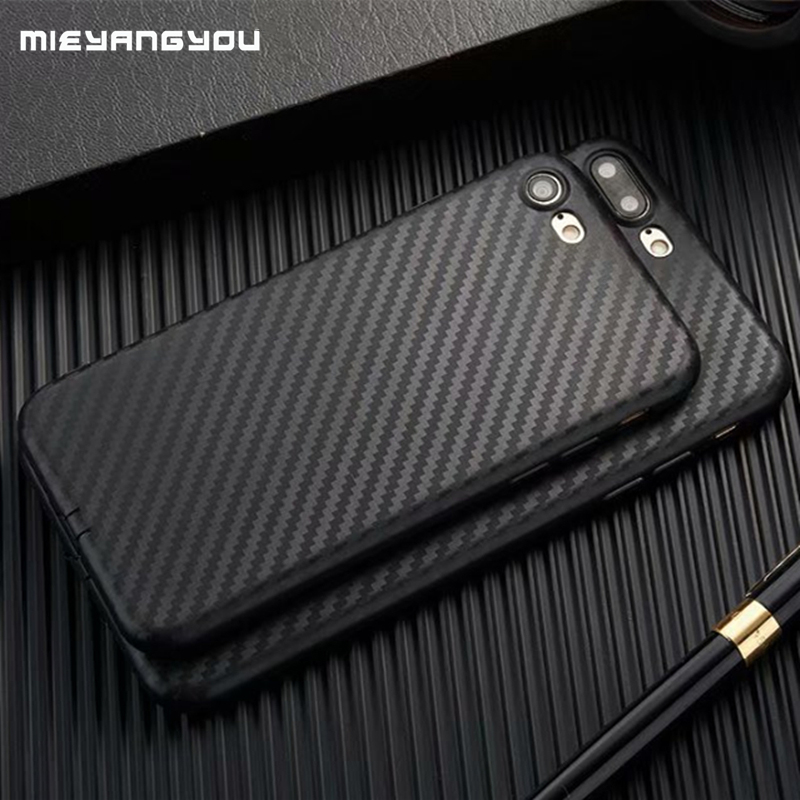 Carbon Fiber Case For IPhone XS Max X XR 8 7 Plus 5 5S SE 6 6S Case Soft TPU Cover For Iphone On 7 8 XS 11 Pro Max Silicon Phone