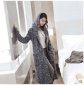 Wholesale Women Winter Cardigan Hooded Sweater Long Sleeves Casual  X-Long Wool Sweater Outwear For Woman Free Shize S1020