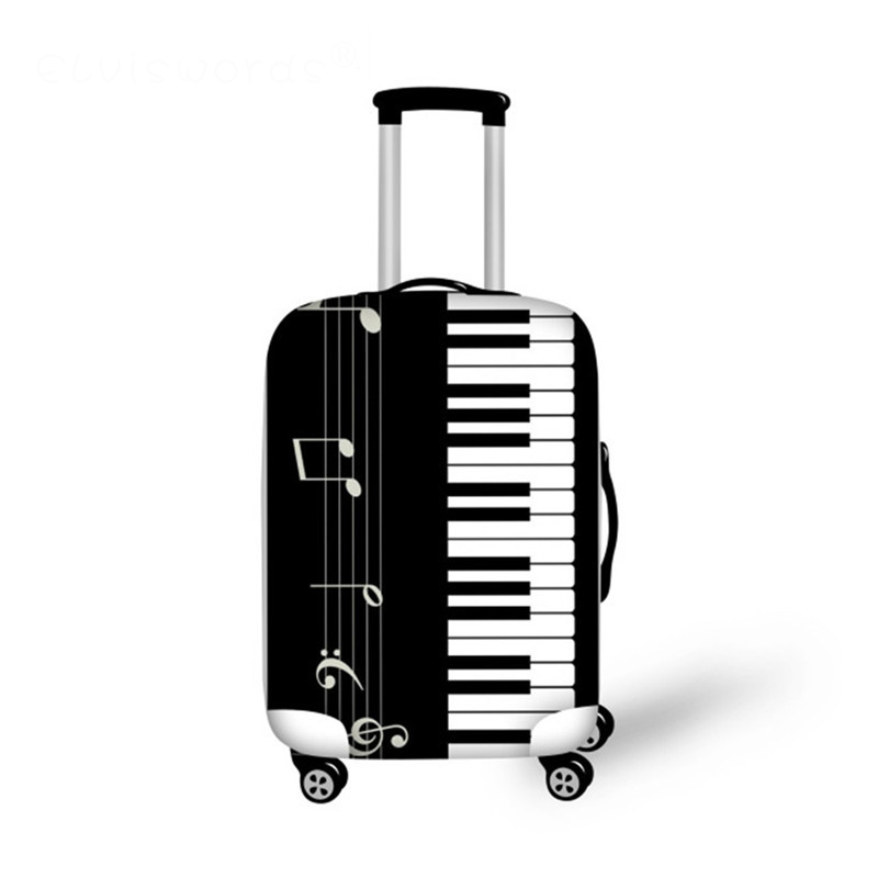 Luggage Protective Cover Music Piano Print Travel Accessories For 18-30 Inch Trolly Suitcase Cover Dustproof Bags