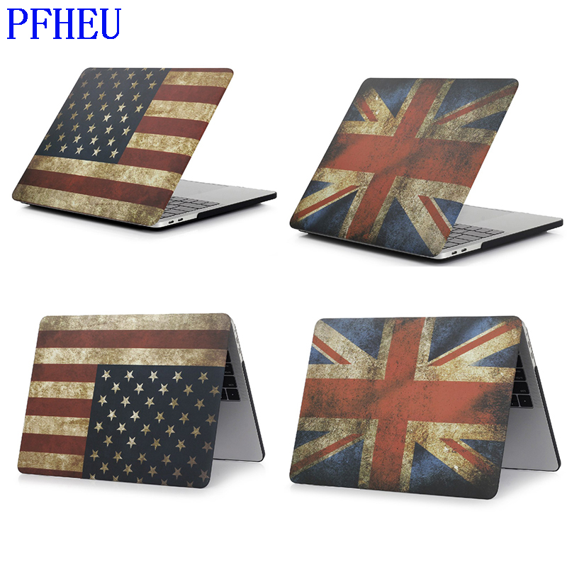 England USA Flag Hard Case Protector For MacBook 11 12 Air 13 Inch Pro 13 Pro Retina 15 Inch Touch Bar 2014 2015 2016 2017 2018