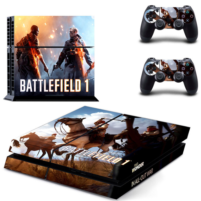 Battlefield 1 vinyl game cover for ps4 skin sticker for ps4 playstation 4 and 2 controller