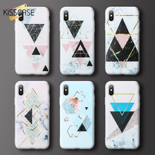 KISSCASE Marble Phone Case For iPhone 7 6 6s Plus 3D Relief Triangle Silicone Case For iPhone X 8 Plus XS Max XR 5s Se 5 7 Cover(China)