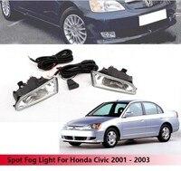 JanDeNing Car Spot Fog Light Lamp Kit For Honda Civic 2001 2002 2003 (Asia Model)