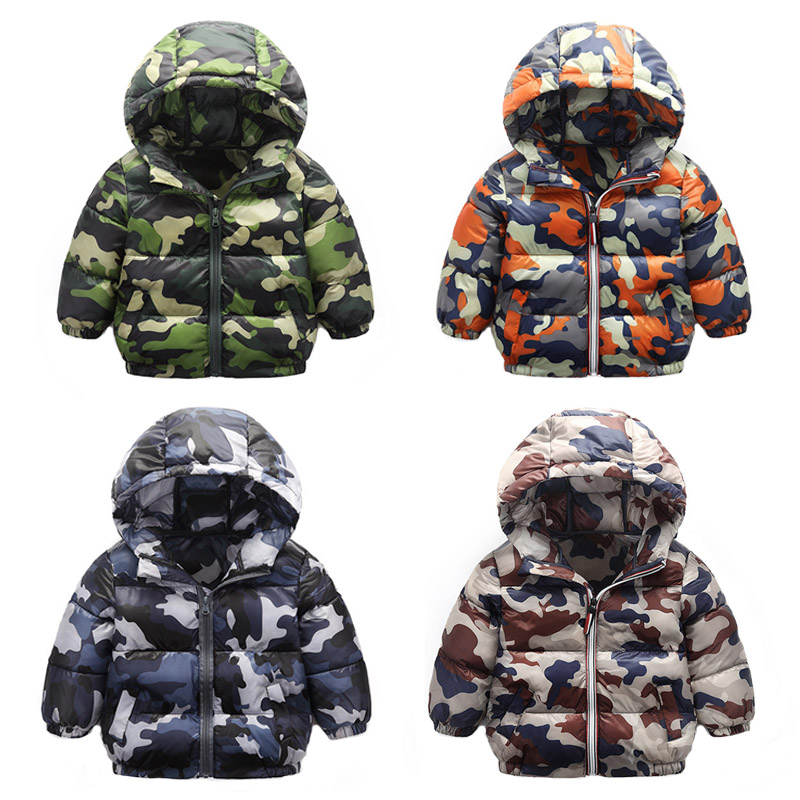 2018 winter children's clothing tide version hooded cotton clothes down cotton men and women children's cotton coat FREE winter coat men s youth thickening long men s cotton cotton sweater men s tide winter coat jacket