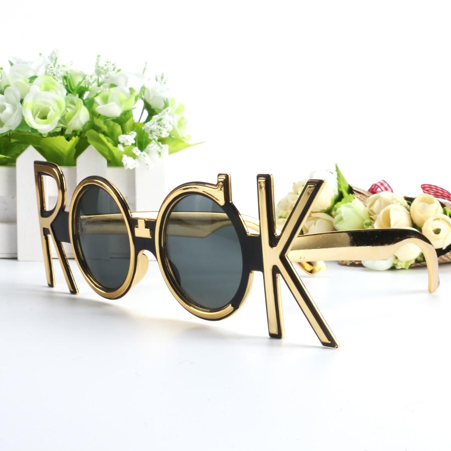 Syzet e rrumbullakëta të artë prej syze Dielli Risat e diellit - Furnizimet e partisë - Foto 4