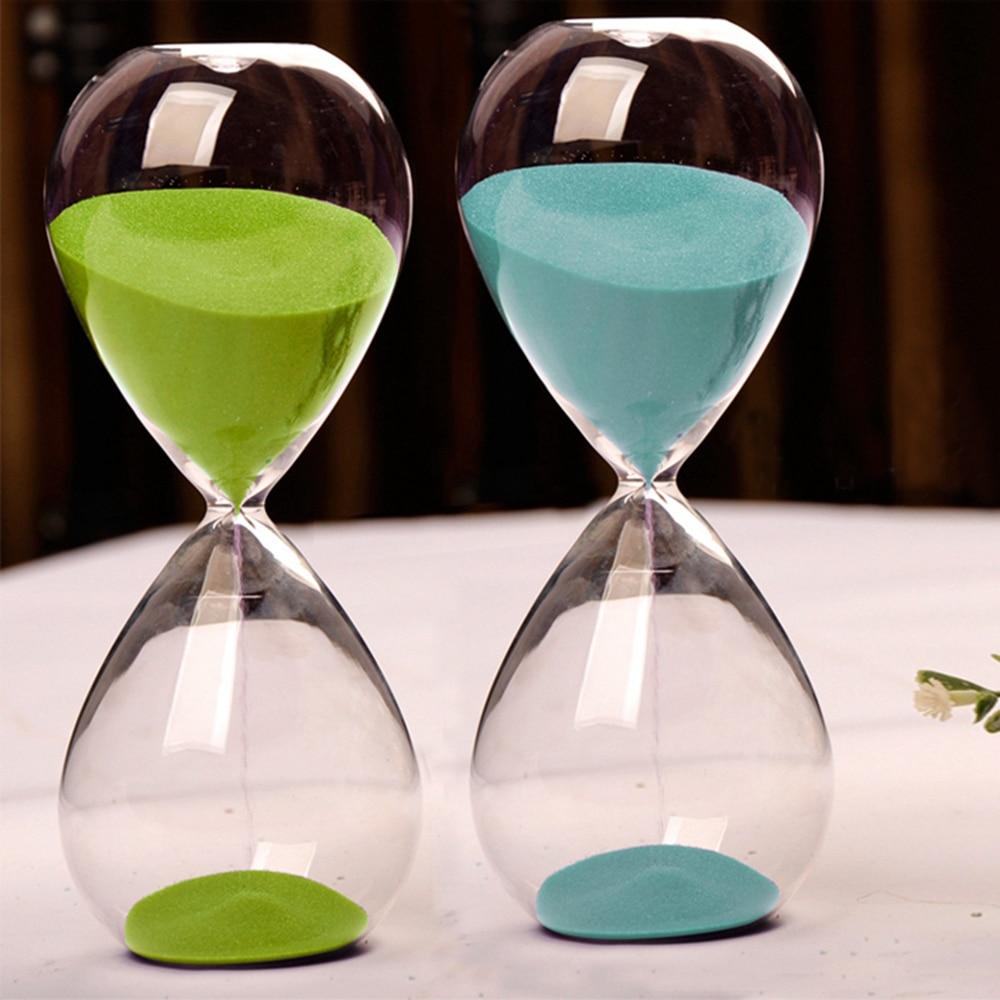 10 minutes transparent glass sand timer clock hourglass