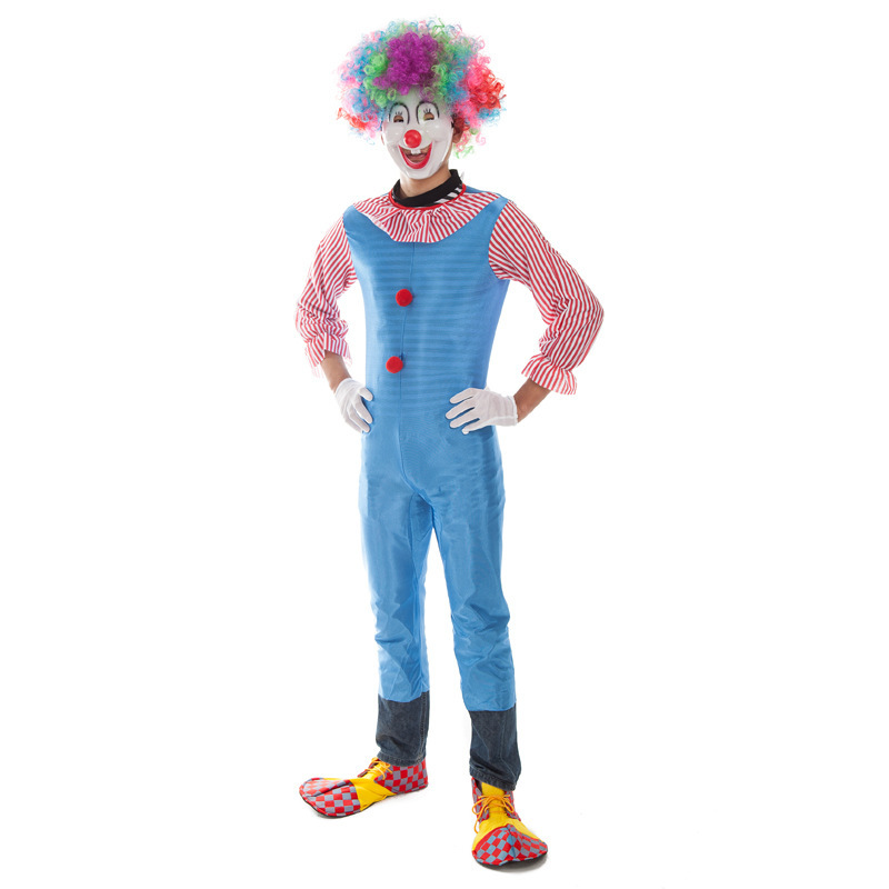 Hot sale Funny Festival Clown Adult Clown Costumes Cosplay Unisex Rompers For Halloween Party