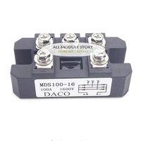MDS100A 3-Phase مقوم الجسر الثنائي 100A أمبير 1600 فولت MDS100-16 MDS100A1600V MDS100A 1600 فولت
