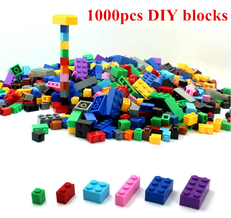 DIY Building Blocks 1000pcs Creative Bricks Toys for Children font b Educational b font Compatible legoed