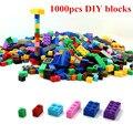 Diy bloques de construcción 1000 unids creativo leping ladrillos ladrillos juguetes para niños educación compatible con brinquedos envío gratis