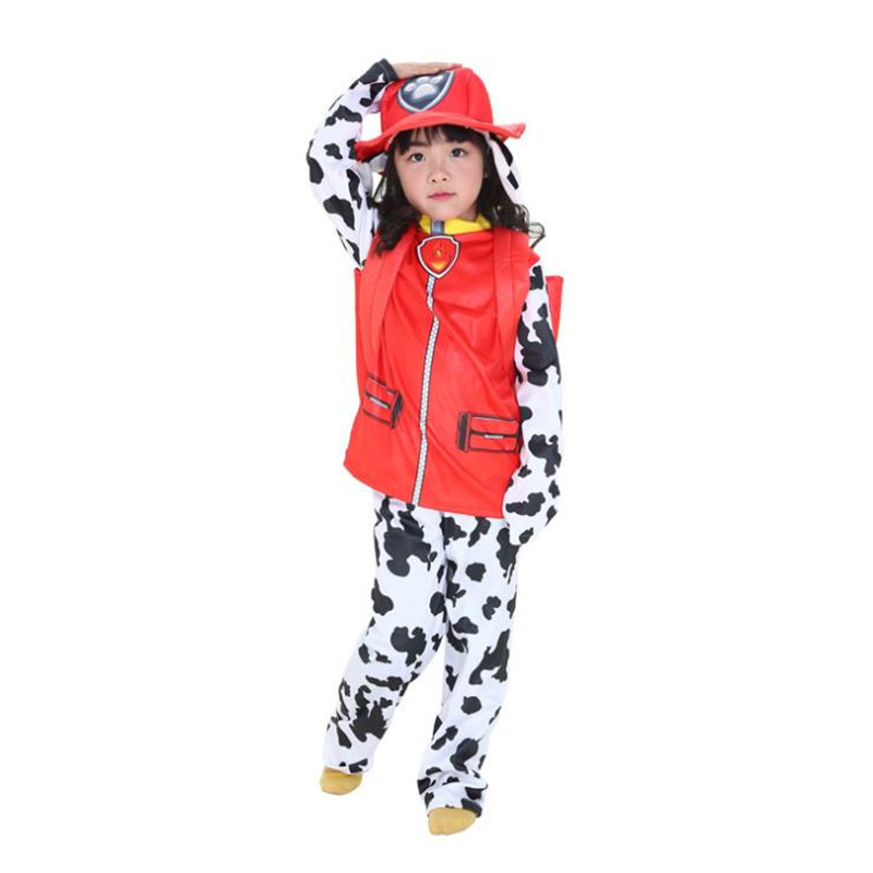 Carnival Halloween Party Patrol Dogs Marshall Chase Skye Cosplay Costume Kids Boys Girls Party Role Play Costume With Bag