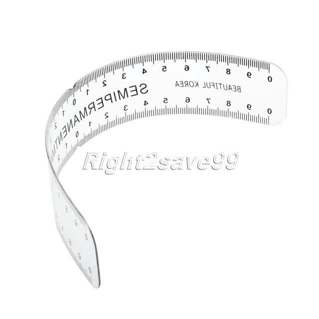 Eyebrow Grooming Stencil Shaper Plasitc Ruler Measure Tool permanent  Makeup Reusable Black microblading  Stencil Brow Artists 1