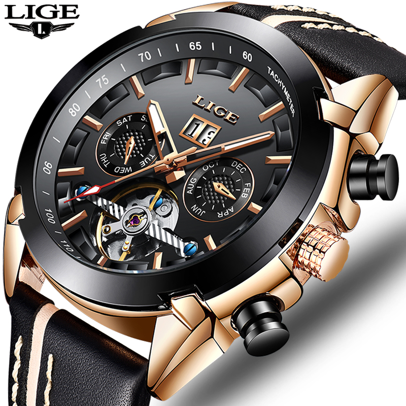 2019LIGE New Men Mechanical Watch Automatic Winding Tourbillon Watch Men Sports Waterproof Multifunction Clock Relogio Masculino2019LIGE New Men Mechanical Watch Automatic Winding Tourbillon Watch Men Sports Waterproof Multifunction Clock Relogio Masculino