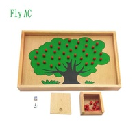 Montessori Material Wooden Apple Tree Box Toy Montessori Math Toys Beech Wood Early Learning Education for children gift