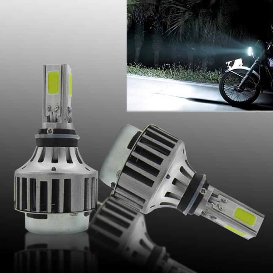 Carprie Super Bright H4 COB LED Bulb HID White 360 degree Hi/Low Beam Motorcycle Headlight 6500K High Power Drop Shipping h4 motorcycle led headlight hi low beam scooter headlight