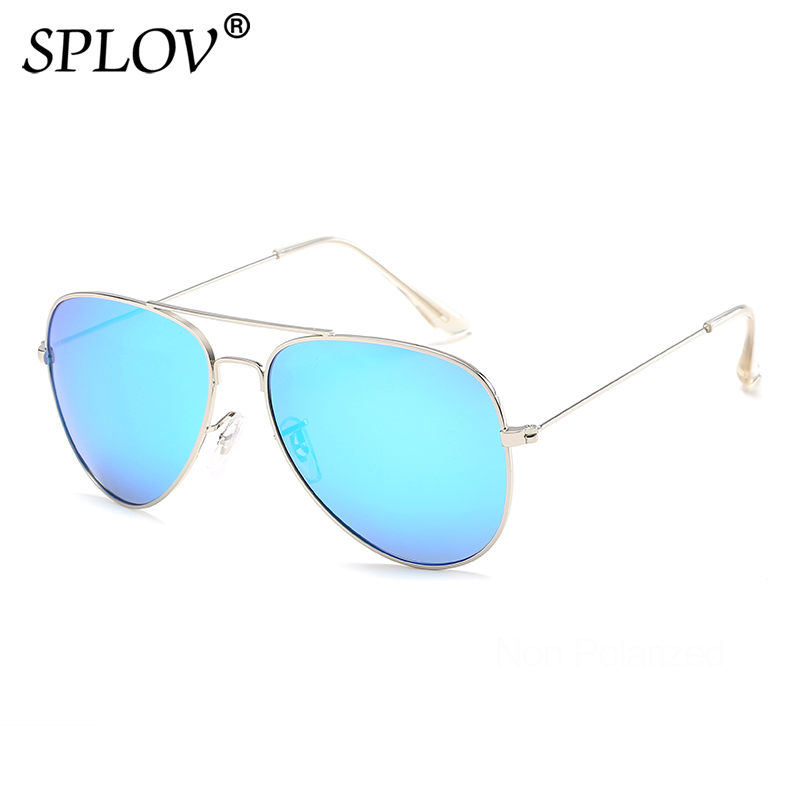 SPLOV Classic Pilot Polarized Sunglasses Men Women Vintage Metal Aviation Sun Glasses Brand Designer Driving Eyewear UV400