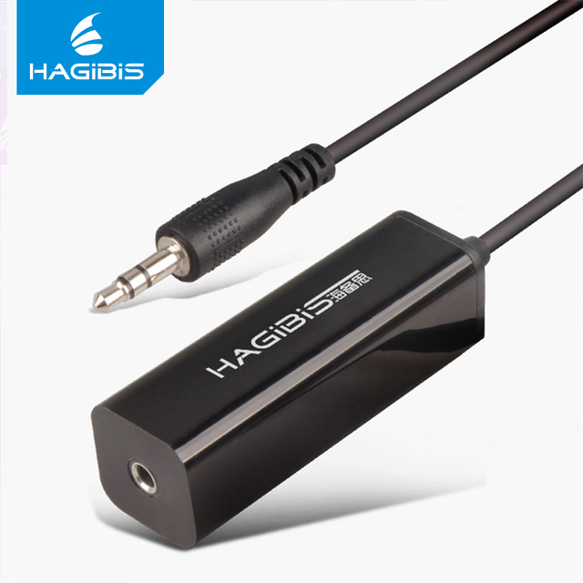 Hagibis Audio Ground Noise Reducing Isolator Anti-jamming Device for Car Audio Home Stereo S  with 3.5mm Audio Interface Wireless Adapter