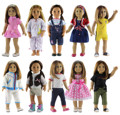New 6 PCS Doll Clothes Different Style for 18 inch American Girl Doll Princess Costumes Dress Outfit