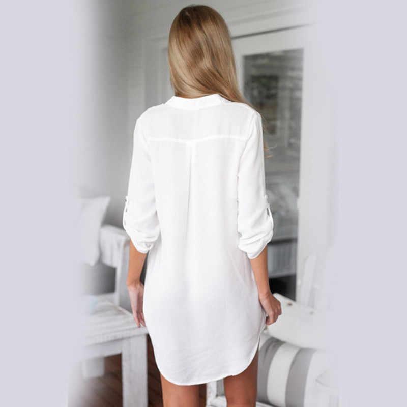 a10f683b9 ... Maternidad v-cuello gasa Blusa de manga larga más camisa para mujeres  embarazadas moda mujeres ...