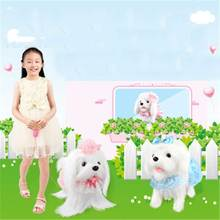 Get more info on the Electronic Pets Remote Control Smart Dog Bark Stand Walk Cute Interactive Robot Dog Electronic Teddy Puppy Plush Toys For Kids
