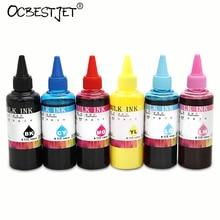 600 ml arte universal tinta de pigmento de papel para epson t10 t13 t20 t30 t33 T50 T60 P50 R260 R265 de R270 R280 R200 R210 R230 R250 6 Colores