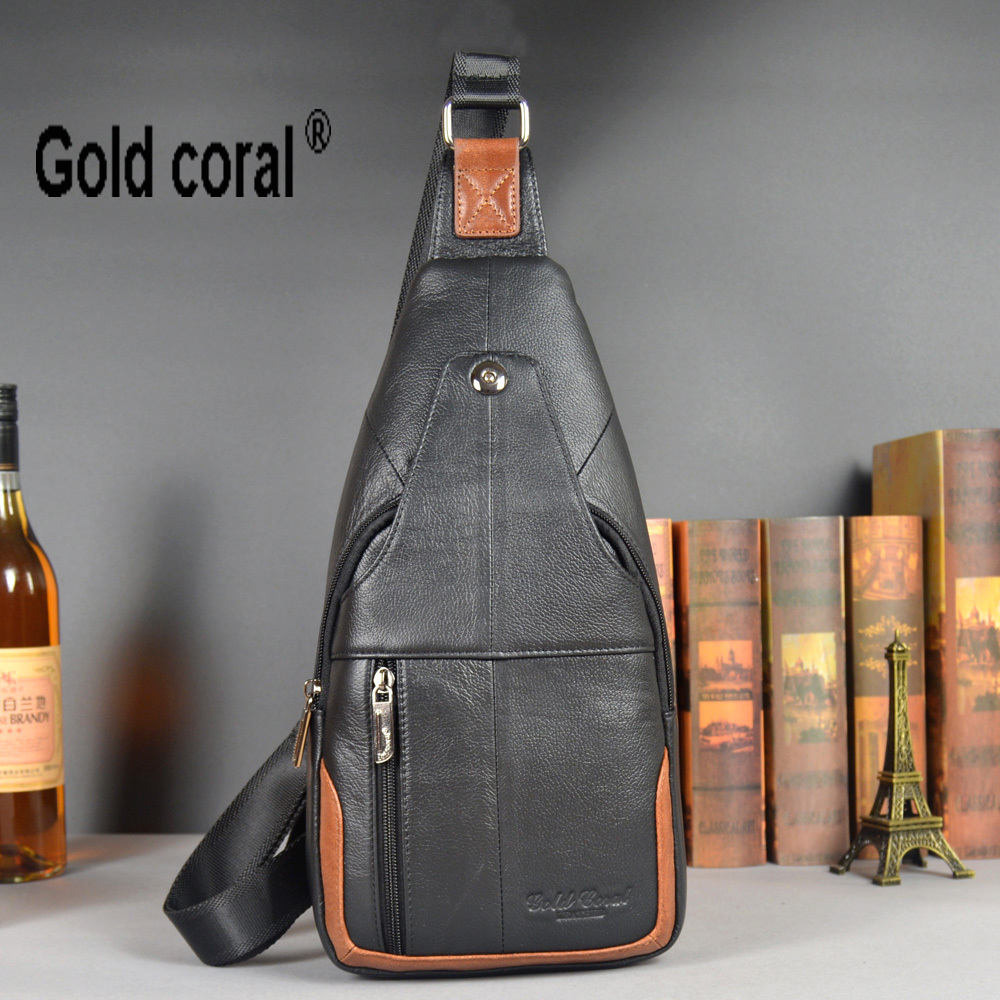 new genuine leather messenger bags for men chest packs crossbody shoulder bag male cowhide handbags