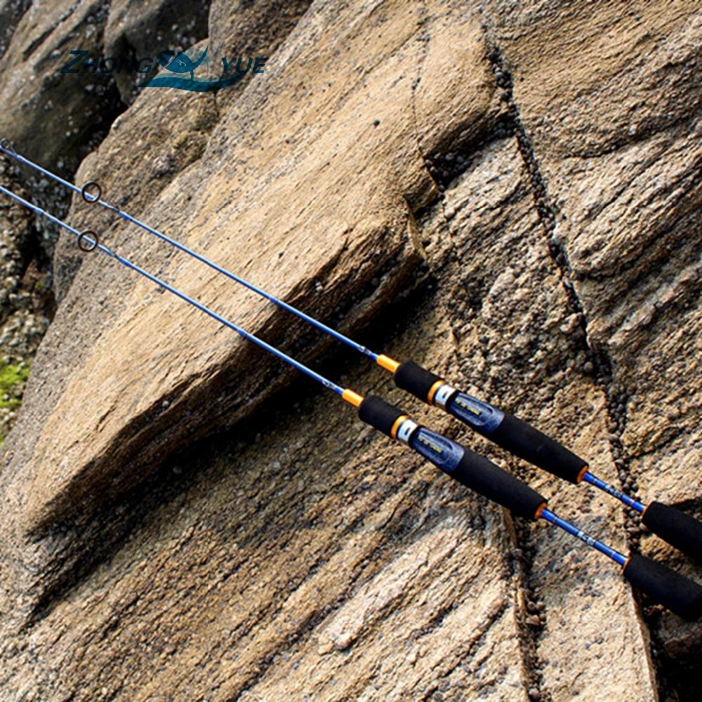 Prix pour Le plus bas résultat Haute Qualité Coulée Spinning Canne À Pêche 1.68 m 2 Segments UL Puissance Leurre De Pêche Pôle Bâton Leurre tige