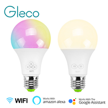 E27 Smart WiFi LED Bulb RGBW CCT 6.5W work with Amazon Alexa & Google Home APP control AC85-265V LED Bulb Lamp