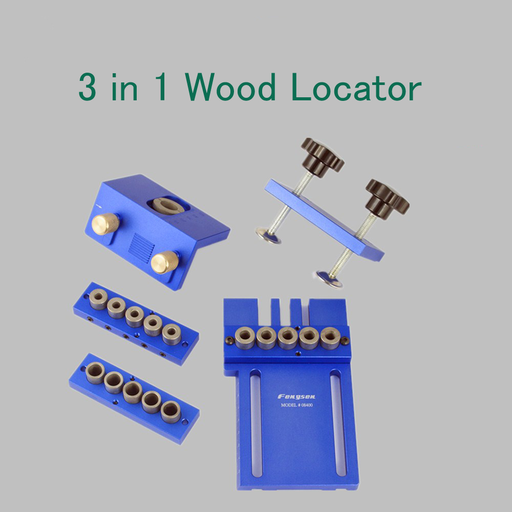 Wood Punch Locator Precise Drilling Tools Woodworking Joinery Tool Set 3 in 1 Wood Locator
