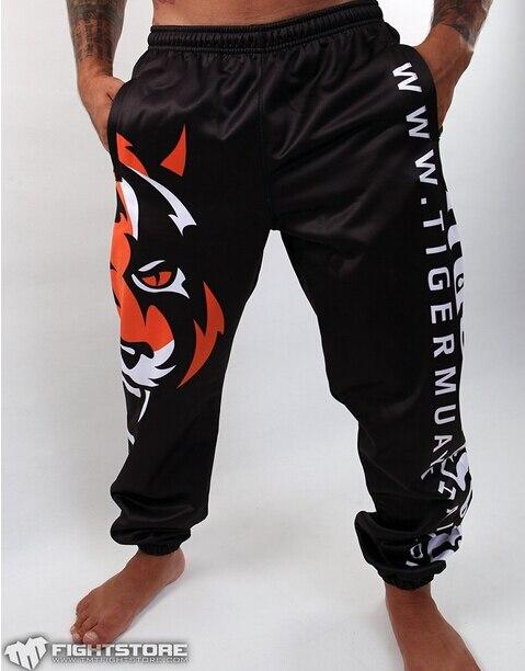 MMA Fight  Tiger MUAY THAI Man Long Pants Muay Thai  Black/white
