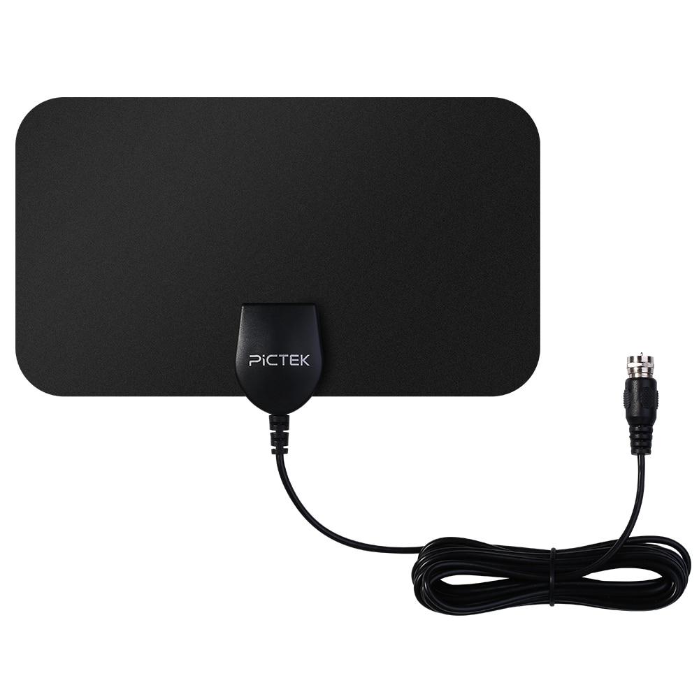 Pictek 25 Miles 25dBi Verstärkt HDTV Antenne Digital 1080 p HD Innen Heimgebrauch Freies Kanäle US EU Stecker TV Antenne w/10ft kabel