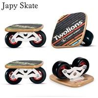Japy Skate Classic Maple Drift Board Silver Aluminum Free Line Drift Skates Scrub Patines Antislip Skateboard Deck 82A Wheels