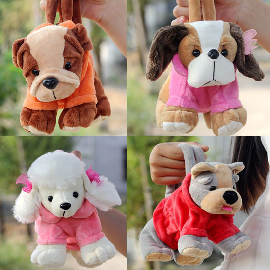 candice guo! super cute plush toy Shar pei dog Poodle Schnauzer Chihuahua puppy cartoon pencil bag handbag coin bag gift 1pc 25cm soft toy poodle pillow cartoon cute poodle dog plush toy fabric stitch stuffed plush dog animal toys for children gifts