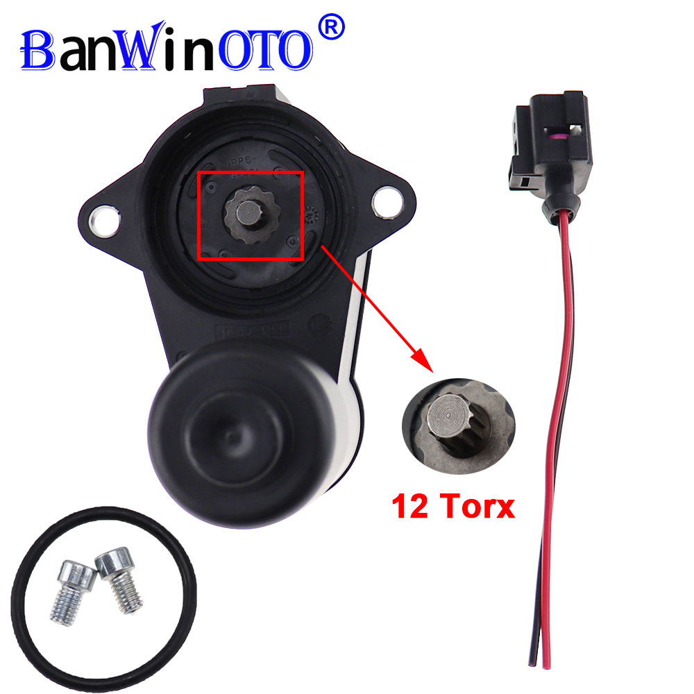 Wheel Handbrake Brake Caliper Servo Motor 12 6 Torx 3C0998281A 3C0998281B 998281 For VW Passat CC B6 B7 Sharan Audi Q3 Alhambra