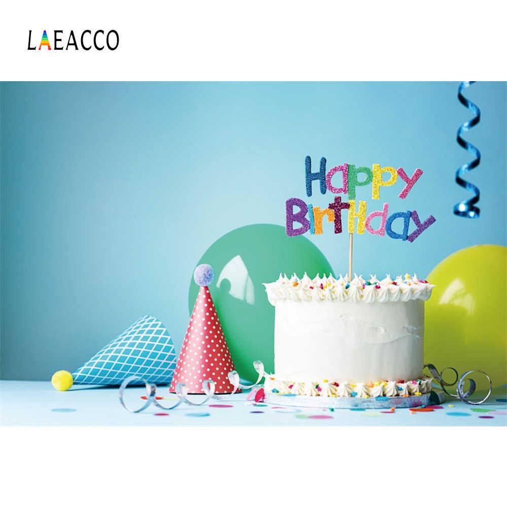Laeacco Baby Birthday Backdrop For Photography Cake Balloon Ribbon Party Celebration Portrait Photo Background For Photo Studio Photographic Backdrops Backdrops For Photosphotography Background Aliexpress