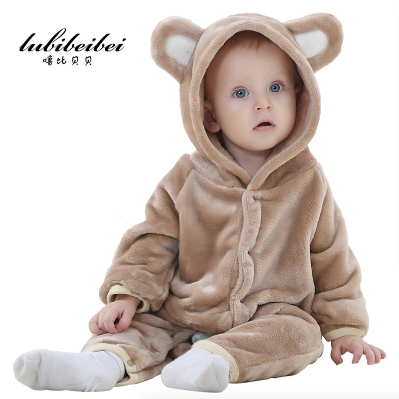 Autumn Winter Baby Rompers Bear style baby Flannel brand Hoodies Jumpsuit baby girls boys romper newborn toddle clothing baby hoodies newborn rompers boys clothes for autumn hooded romper cotton jumpsuit child kids costumes girls clothing